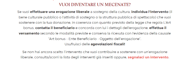 Art Bonus: come pagare meno tasse aiutando la cultura italiana