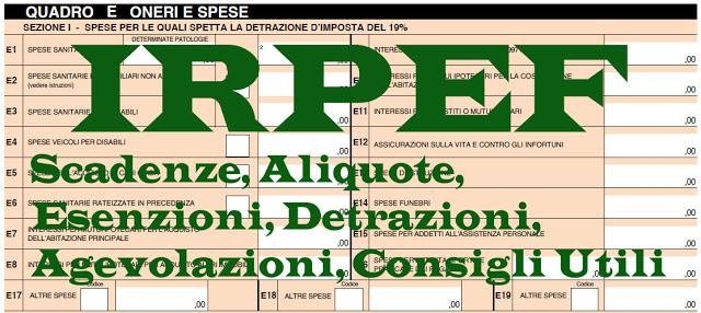 Irpef 2018 calcolo aliquote scaglioni detrazioni for Capienza irpef per detrazioni