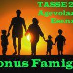 Esenzione tasse, agevolazioni fiscali, bonus per famiglie 2018