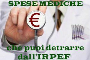 Spese mediche che danno diritto alla detrazione IRPEF